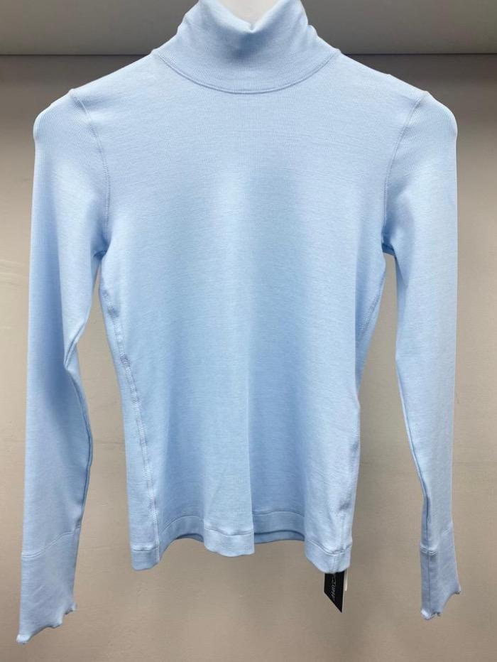 Marc Cain Sports Tops Marc Cain Sports Basic Ribbed Turtle Neck Top Baby Blue KS 48.24 J50 318 izzi-of-baslow