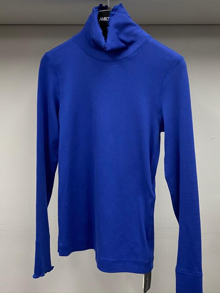 Marc Cain Sports Tops Marc Cain Sports Basic Ribbed Turtle Neck Top Royal Blue HS 48.24 J50 364 izzi-of-baslow