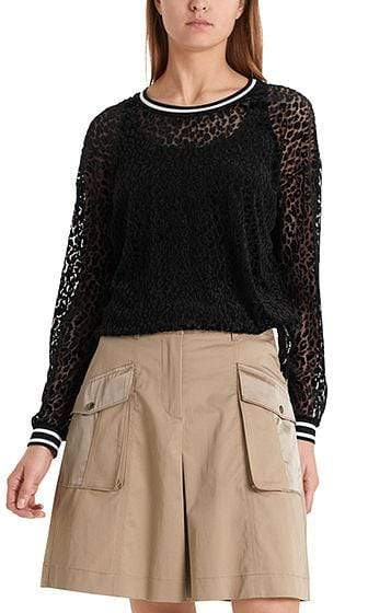 Marc Cain Sports Tops Marc Cain Sports Devore Top with Leopard Pattern PS 48.33 J35 izzi-of-baslow