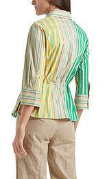 Marc Cain tops Marc Cain Striped Blouse in Stretch Cotton NC 51.24 W43 izzi-of-baslow