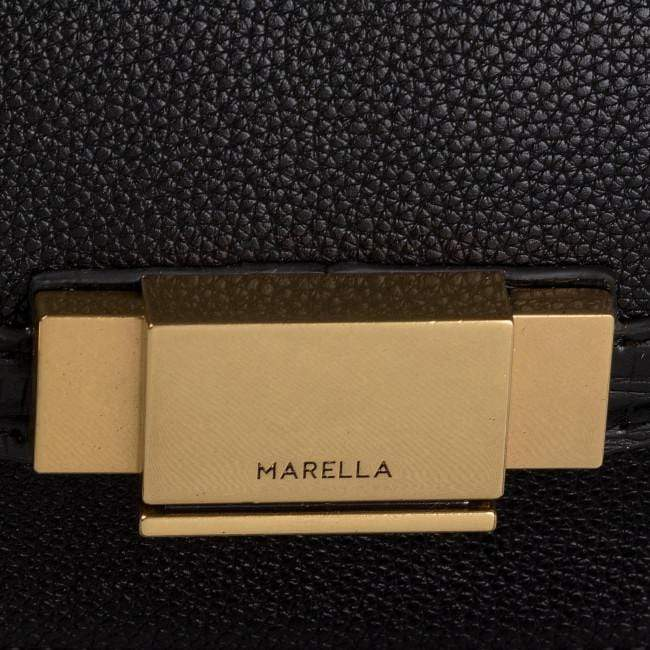 Marella Accessories O/S Marella Black Gabbia Handbag 65161696 izzi-of-baslow