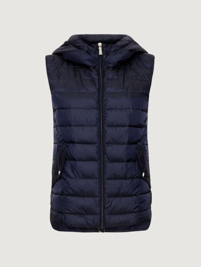 Marella Coats and Jackets 10 / navy Marella Sifone Navy Quilted Gilet 32960207 izzi-of-baslow