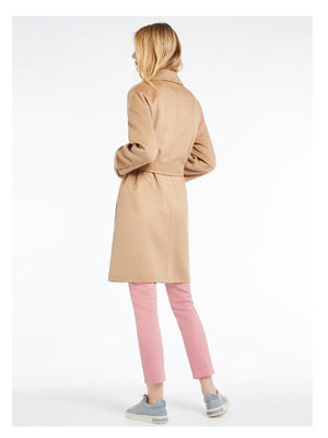 Marella Coats and Jackets Marella Double Breasted Wool Coat Beige Daino izzi-of-baslow