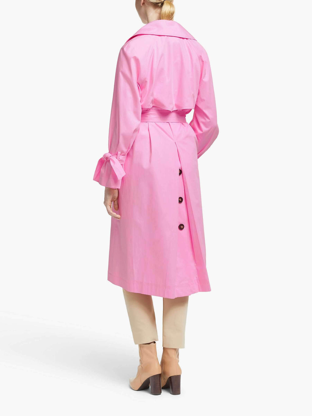 Marella Coats and Jackets Marella Pink Rosatea Trench Coat 30210101 izzi-of-baslow