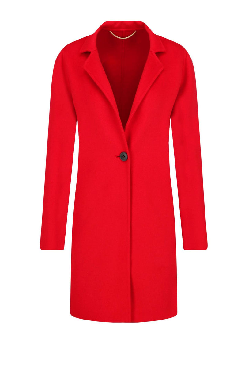 Marella Coats and Jackets Marella Red Wool Coat Eschimo 30160698 izzi-of-baslow