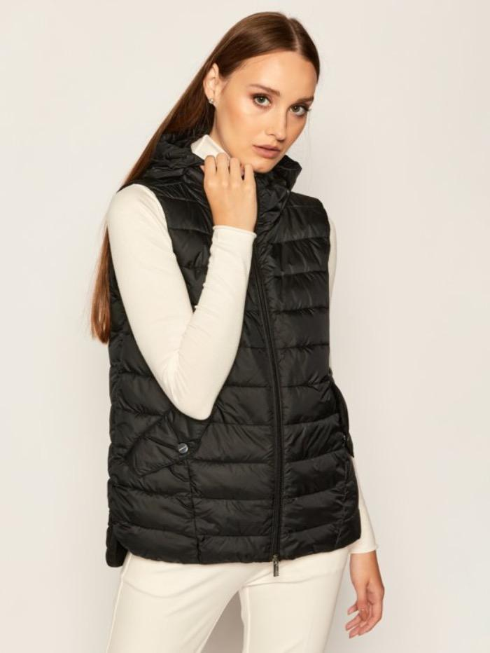 Marella Coats and Jackets Marella Sifone Black Quilted Gilet 32960207 izzi-of-baslow