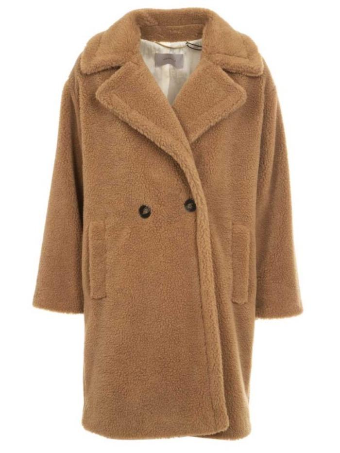 Marella Coats & Jackets Marella Itri Double-Breasted Teddy Coat izzi-of-baslow