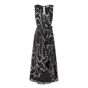 Marella Dresses Marella Black and Cream Printed Ines Dress izzi-of-baslow