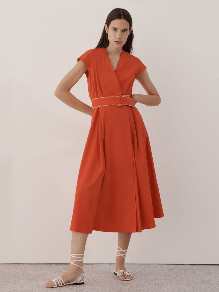 Marella Dresses Marella NUMERO Orange Maxi Dress 32212212 izzi-of-baslow