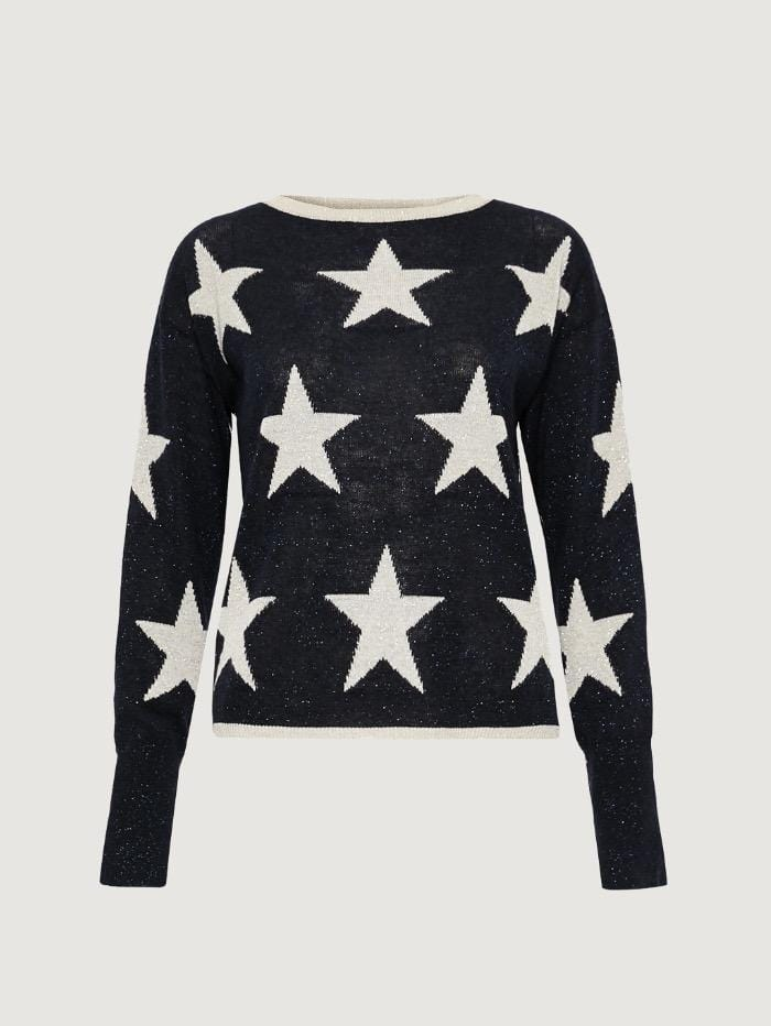 Marella Knitwear Marella Pozzo Jumper With Star Pattern izzi-of-baslow