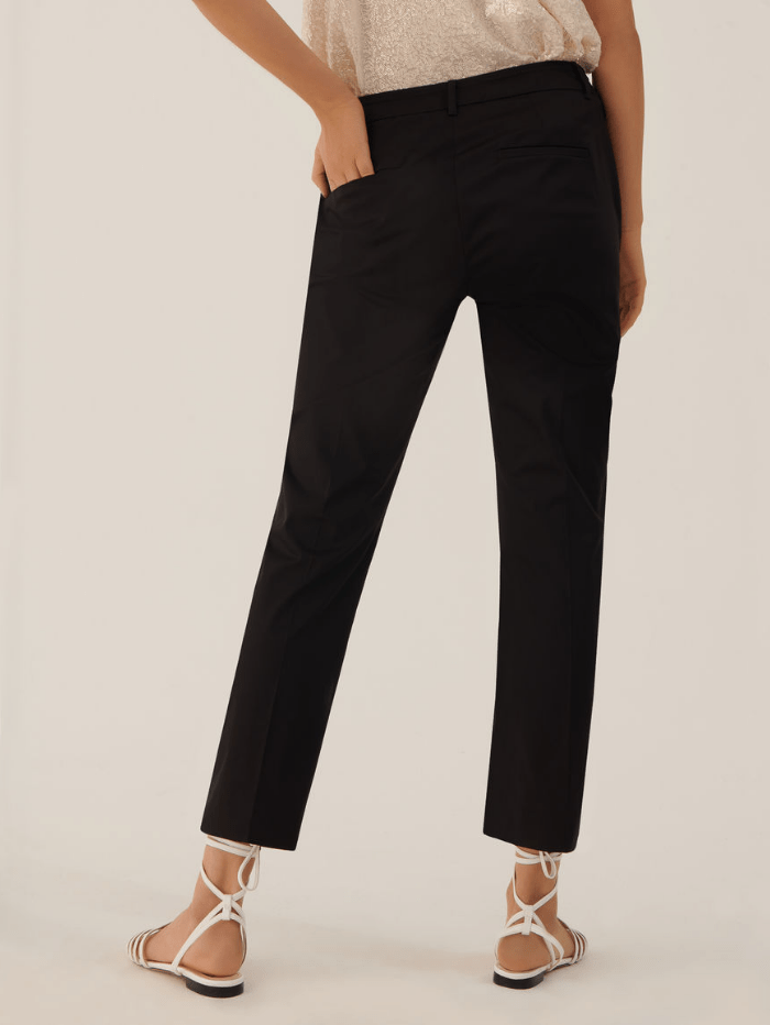 Marella Tops Marella ALFONSA Slim Fit Trousers Black 31311012 004 izzi-of-baslow