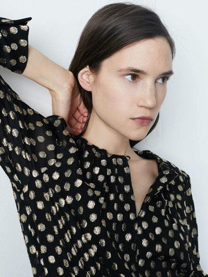 Marella Tops Marella Manila Blouse With Lurex Spots izzi-of-baslow
