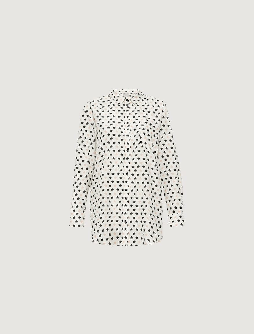 Marella Tops Marella Shirt Star Print On Off White Background Fidato 31910204 izzi-of-baslow