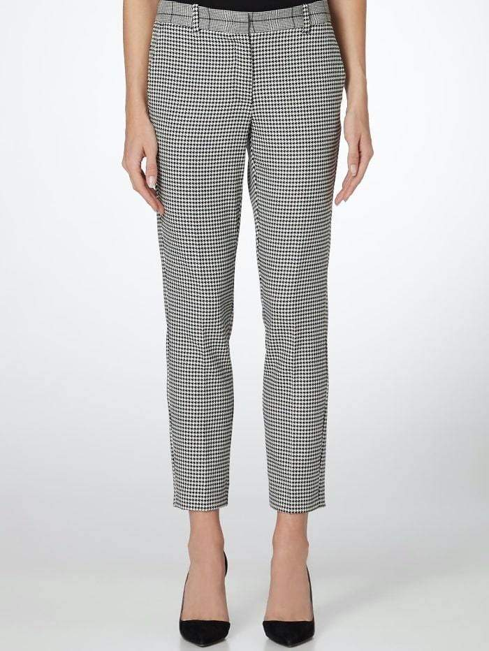 Marella Trousers 8 / black Marella Satira Houndstooth Check Trousers izzi-of-baslow