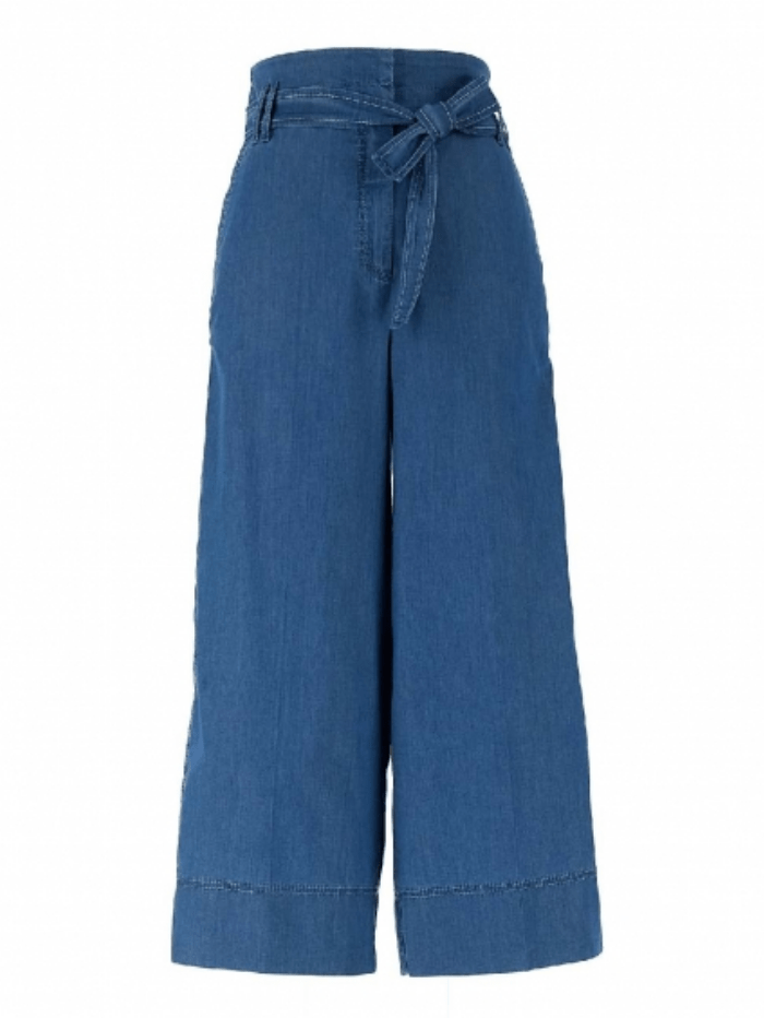 Marella Trousers Marella AGRESTE Palazzo Denim Trousers 31810312 izzi-of-baslow