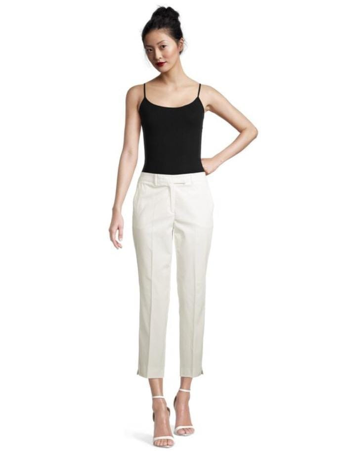 Marella Trousers Marella ALFONSA Slim Fit Trousers White 31311012 001 izzi-of-baslow
