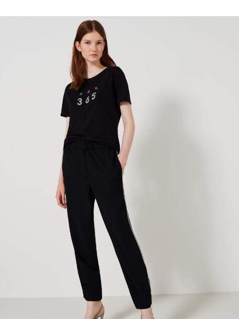 Marella Trousers Marella Black Trousers With Diamante Kenya 31310801 izzi-of-baslow