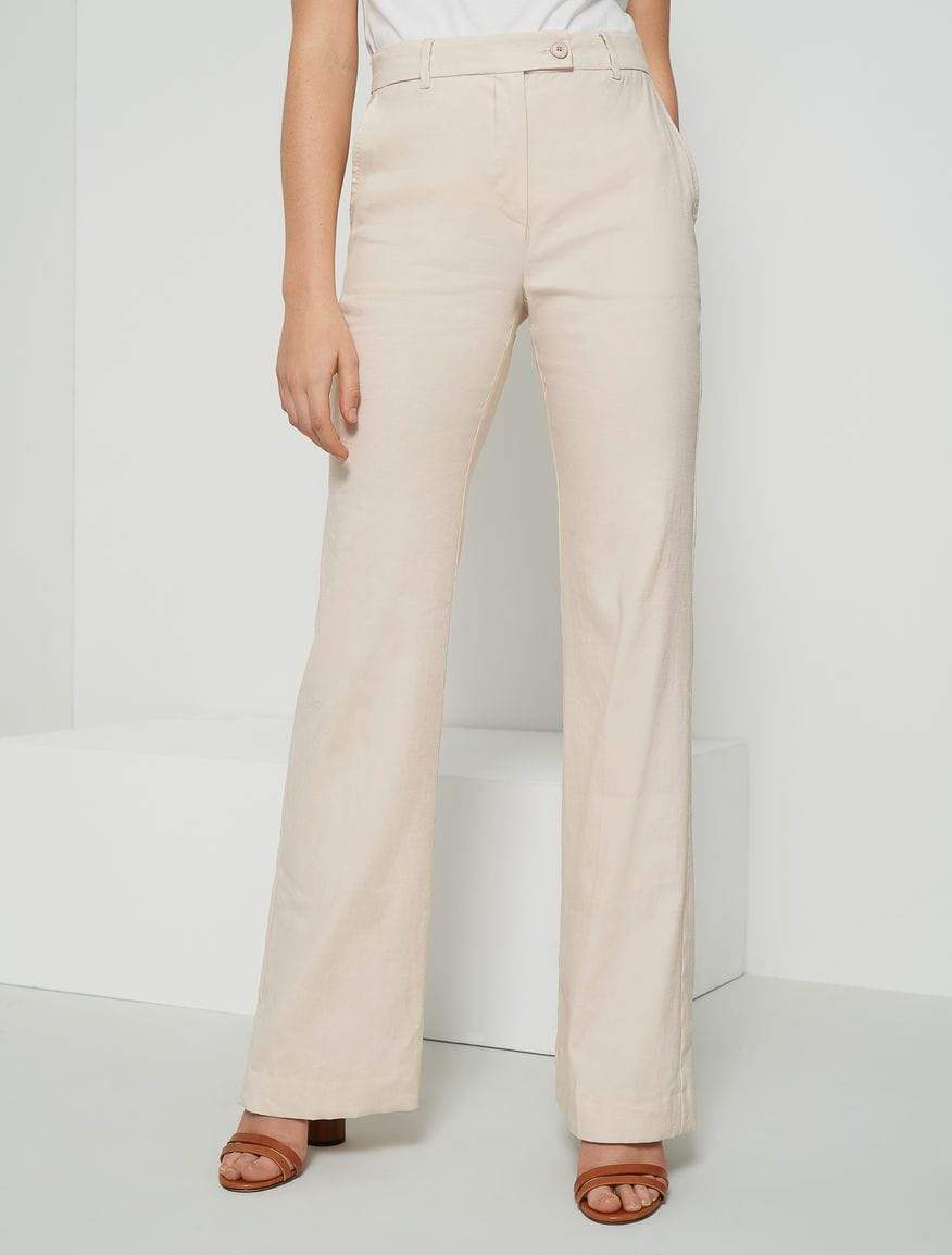 Marella Trousers Marella Linen Mix Gift Trousers 31311402200 izzi-of-baslow