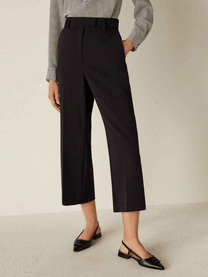Marella Trousers Marella MAYACA Black Cropped Trousers 31313011 izzi-of-baslow