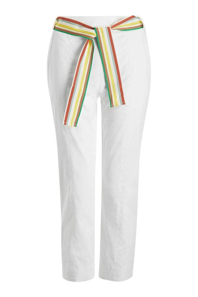 Marella Trousers Marella White Sequoia Trousers 31310102 izzi-of-baslow