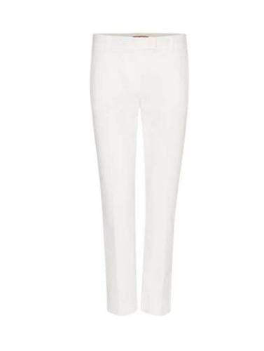 Max Mara Studio Trousers Max Mara Studio White Tailored Patroni Trousers izzi-of-baslow