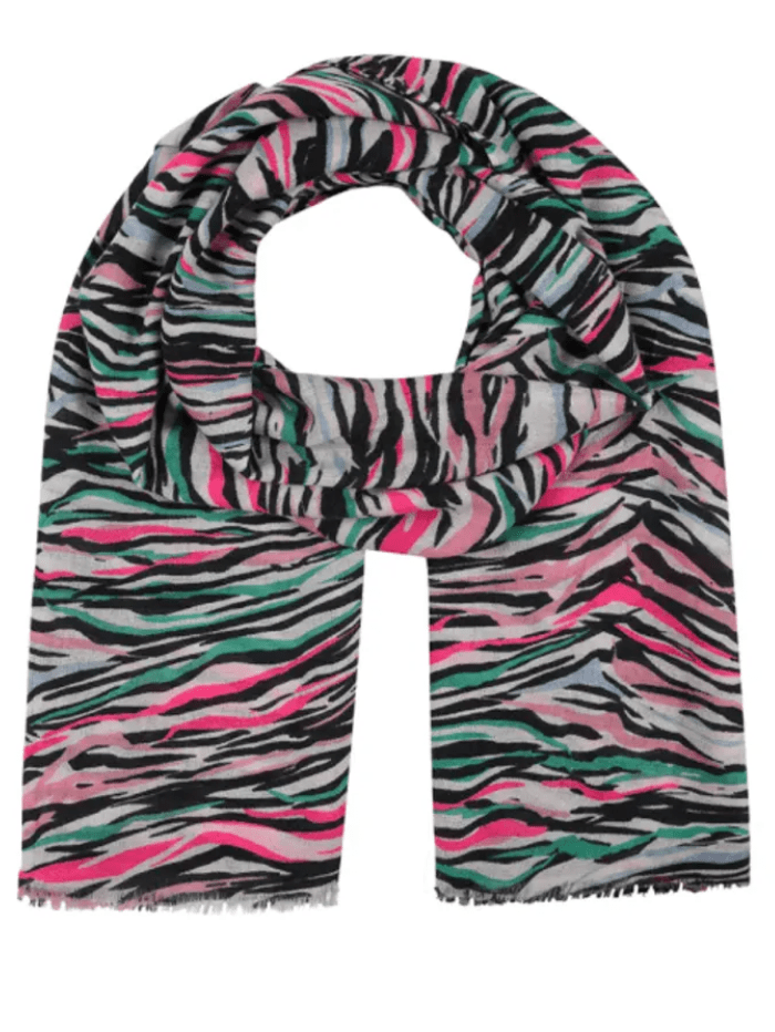 Mercy Delta Accessories One Size Mercy Delta Cashmere Signature Zebra Diva Scarf izzi-of-baslow
