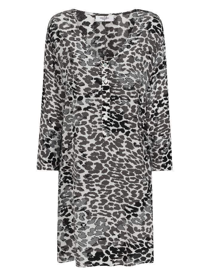 Mercy Delta Dresses Mercy Delta Lambton Leopard Ombre Monochrome Dress izzi-of-baslow