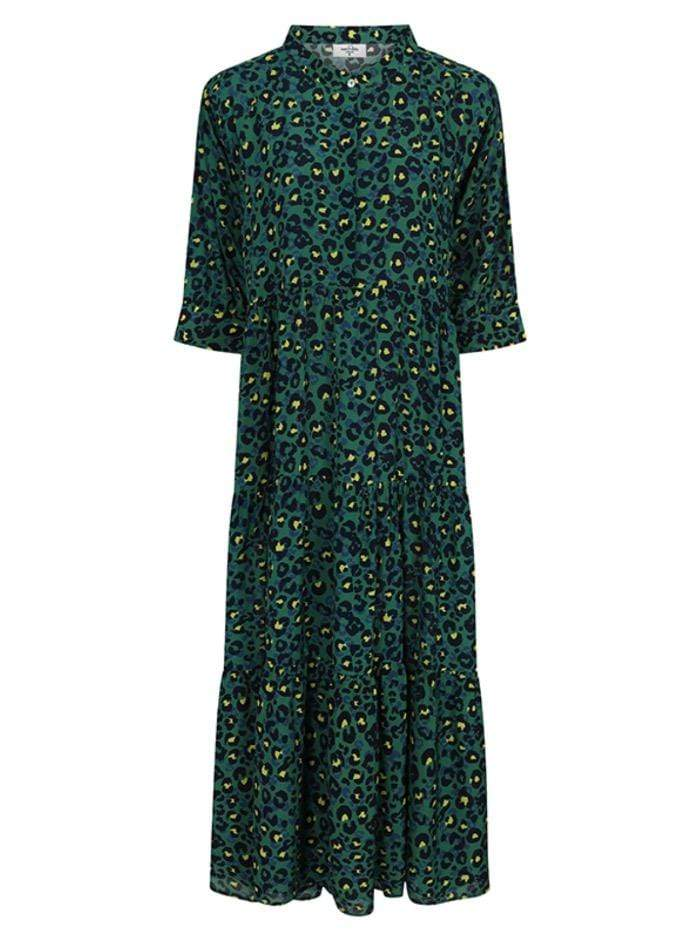 Mercy Delta Dresses Mercy Delta Wollaton Green Painterley Animal Electric Dress izzi-of-baslow