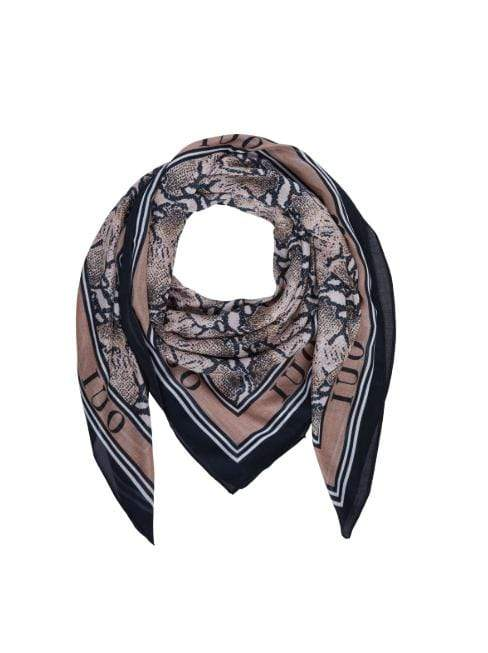 Oui Accessories One Size Oui Snake Print Scarf Brown 68983 izzi-of-baslow
