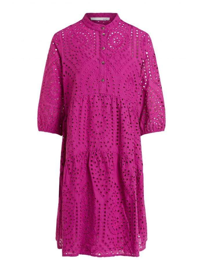 Oui Dresses Oui Dark Pink Lacey Festival Fuchsia Dress 73060 izzi-of-baslow