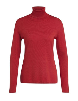 Oui Jumper Oui Red Polo Necked Sweater 70503 izzi-of-baslow