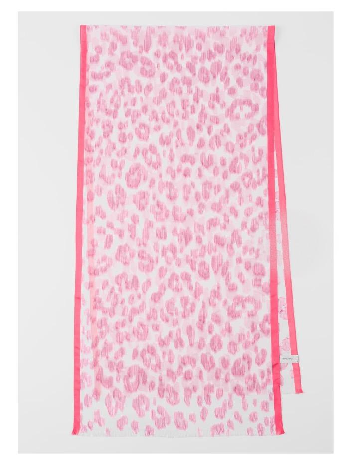 Paul Smith Accessories one / Pink Leopard Paul Smith Scarf Pink leopard W1A-785F-FS44-20 izzi-of-baslow