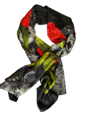 Paul Smith Accessories One Size Paul Smith Cutout Rose Silk Scarf W1A-566F-ES03 izzi-of-baslow