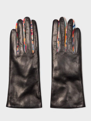 Paul Smith Accessories Paul Smith Concertina Swirl Leather Gloves W1A-461E-AG931-79 izzi-of-baslow