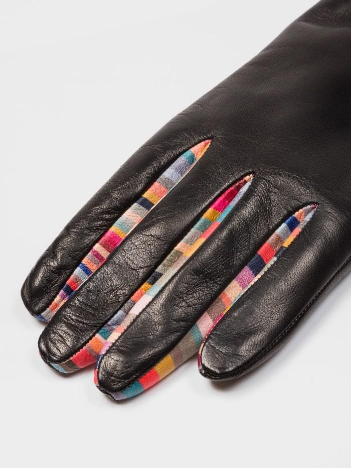 Paul Smith Accessories S / black Paul Smith Concertina Swirl Leather Gloves W1A-461E-AG931-79 izzi-of-baslow