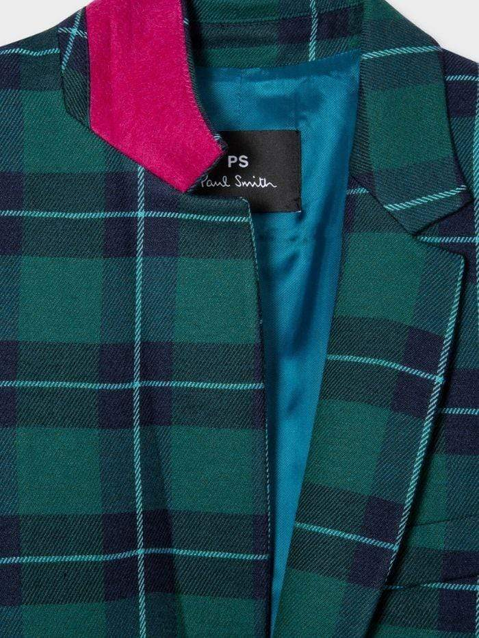 Paul Smith Coats & Jackets Paul Smith Green Tartan Jacket W2R-207J-E30641 izzi-of-baslow