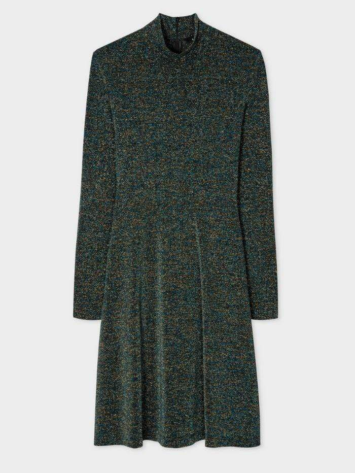 Paul Smith Dresses Paul Smith Glitter Funnel Neck Dress W2R-399D-E30646 izzi-of-baslow