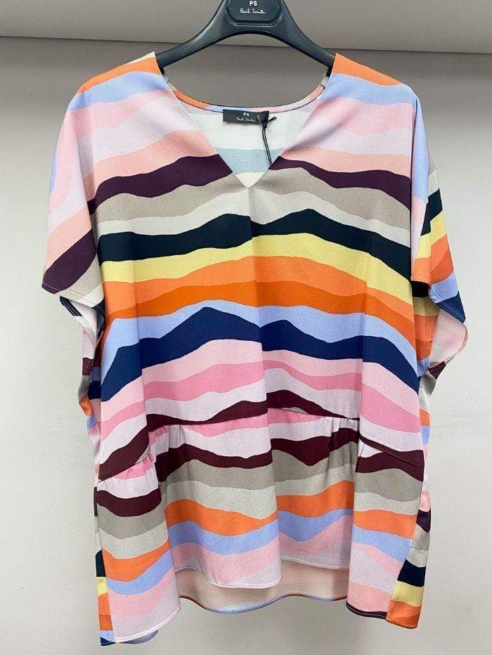 Paul Smith Dresses Paul Smith Swirl Print Top W2R-260M-E30648 izzi-of-baslow