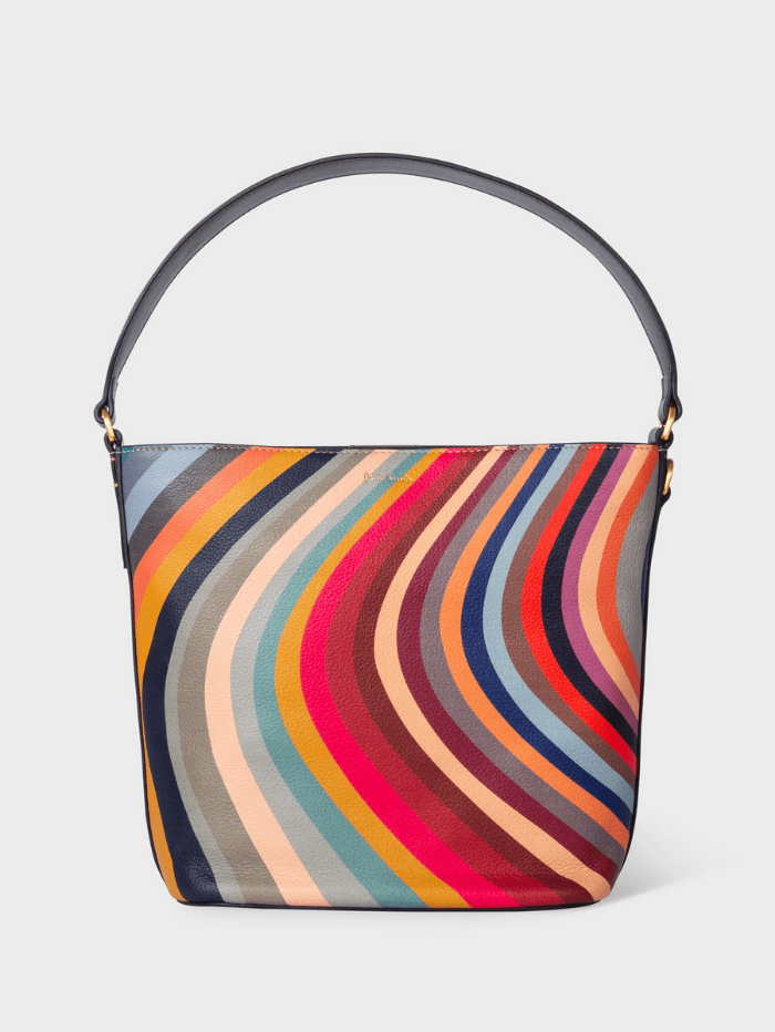 Paul Smith Handbags One Size Paul Smith Swirl Print Leather Bucket Bag W1A-6345-DSWIRL-90 izzi-of-baslow