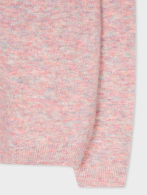 Paul Smith Knitwear Paul Smith Pink-Marl Wool Blend Sweater W2R-824K-E30685-21 izzi-of-baslow