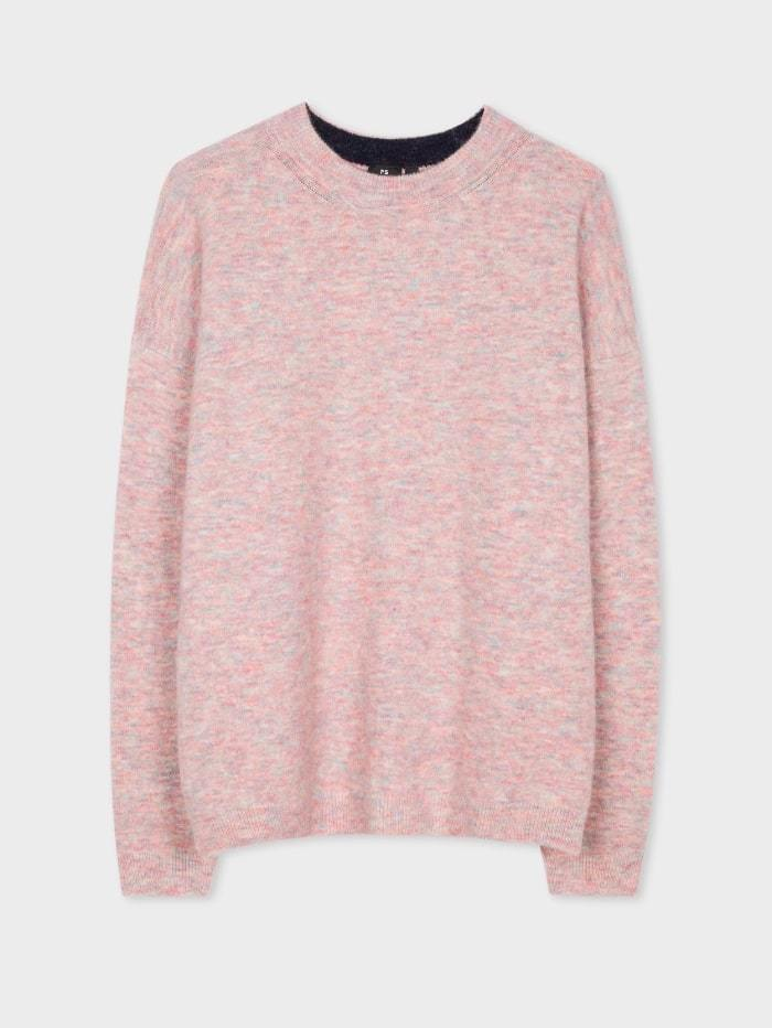 Paul Smith Knitwear S / Powder Paul Smith Pink-Marl Wool Blend Sweater W2R-824K-E30685-21 izzi-of-baslow