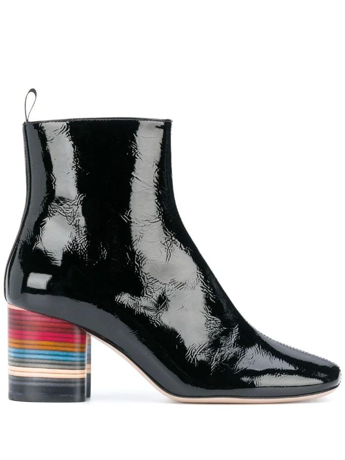 Paul Smith Shoes 38 / black Paul Smith Moss Black Swirl Heel Leather Boots W1S-MOS04-EPAT-79 izzi-of-baslow