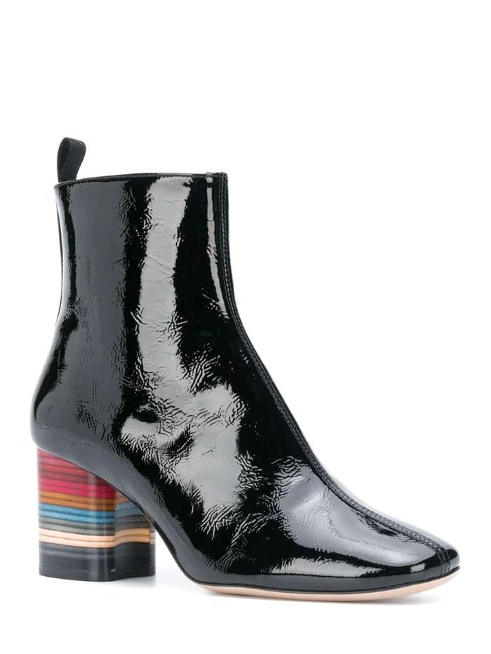 Paul Smith Shoes Paul Smith Moss Black Swirl Heel Leather Boots W1S-MOS04-EPAT-79 izzi-of-baslow