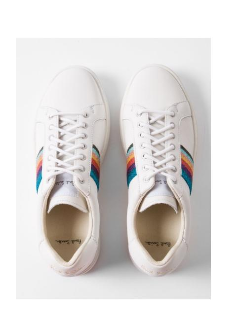 Paul Smith Shoes Paul Smith White Artist Stripe Trainers izzi-of-baslow