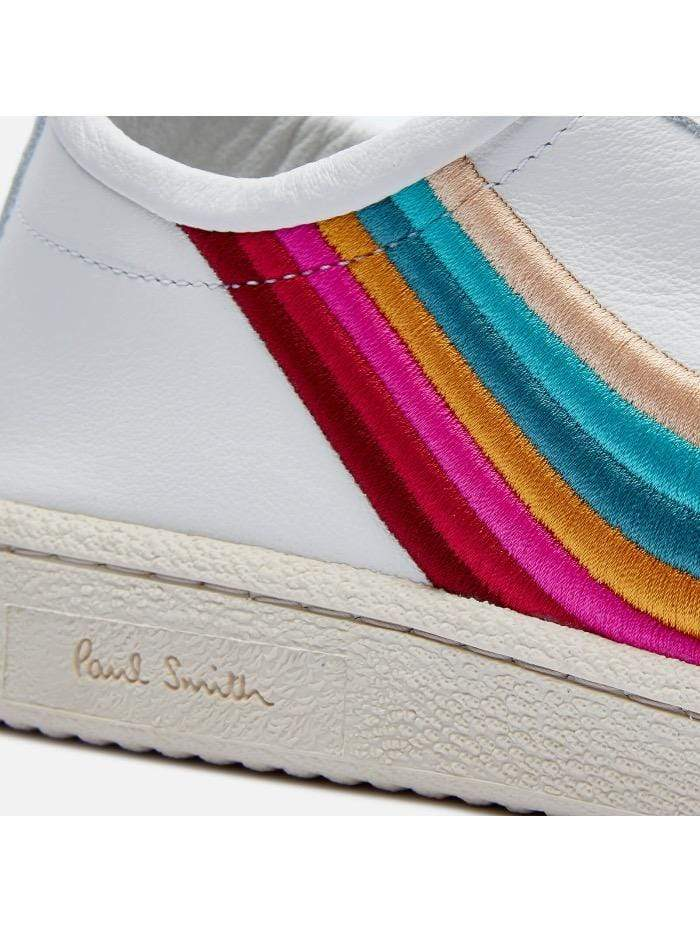 Paul Smith Shoes Paul Smith White Leather Ziggy Trainers With Swirl Trims W1S-ZIG21-FLEA-01 izzi-of-baslow