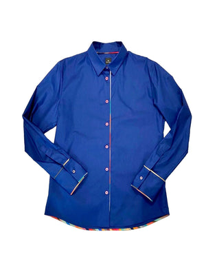 Paul Smith Tops 12 / dark blue Paul Smith Cotton Shirt in Dark Blue W2R-019BS-E30056 izzi-of-baslow