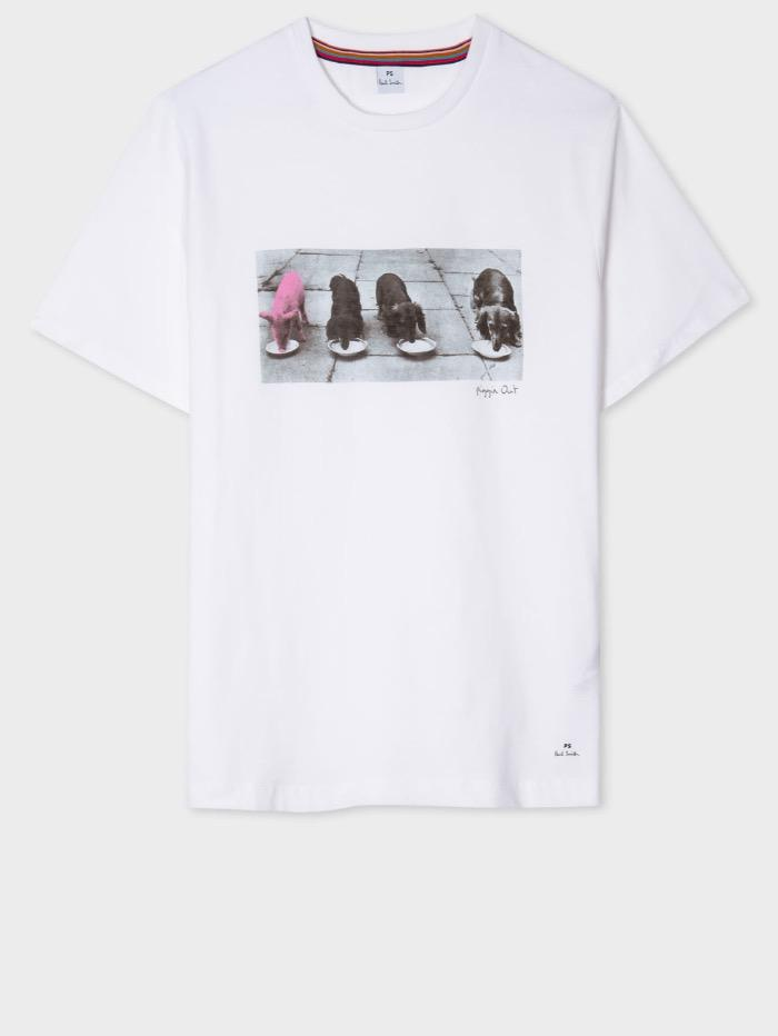 "Paul Smith Tops Paul Smith ""Piggin Out"" Organic Cotton T-Shirt W2R-G799-EP2245 izzi-of-baslow"