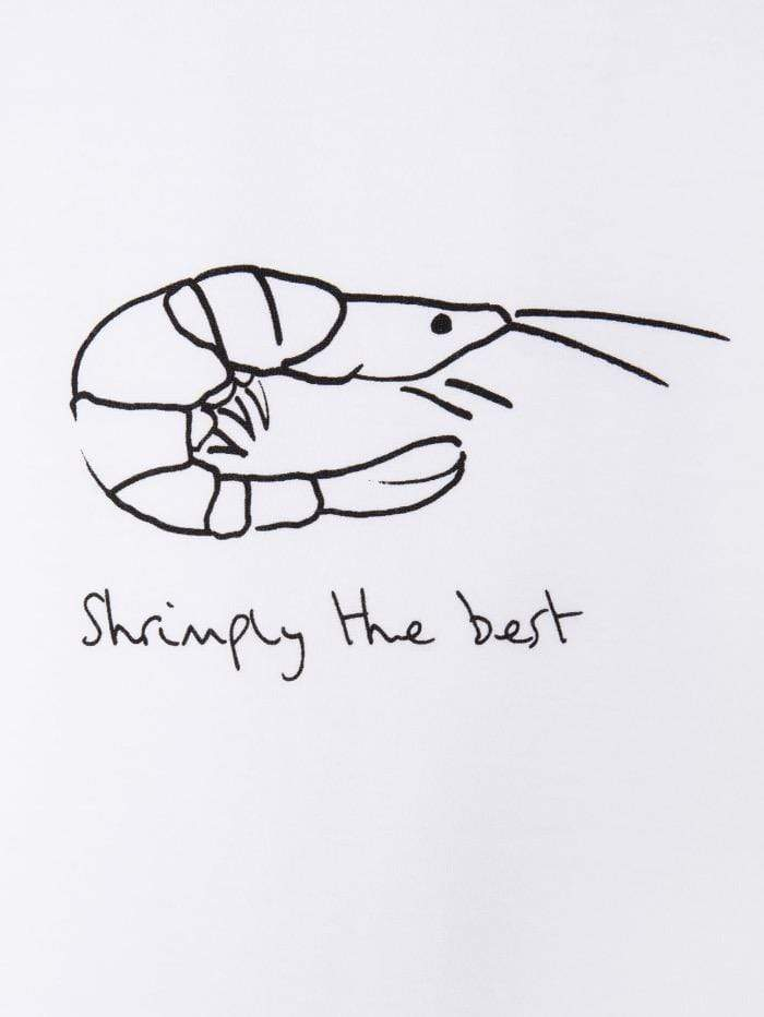 "Paul Smith Tops Paul Smith ""Shrimply The Best"" Organic Cotton T-Shirt W2R-179V-EP2250 izzi-of-baslow"