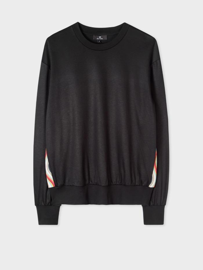 Paul Smith Tops Paul Smith Sweatshirt Black Side Stripe W2R-142V-F20081-79B izzi-of-baslow