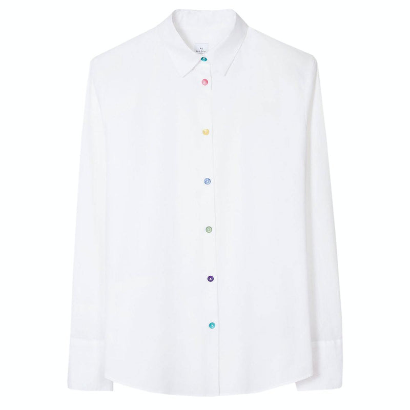 Paul Smith Tops Paul Smith White Shirt With Multi Buttons W2R-019B-E30056 izzi-of-baslow